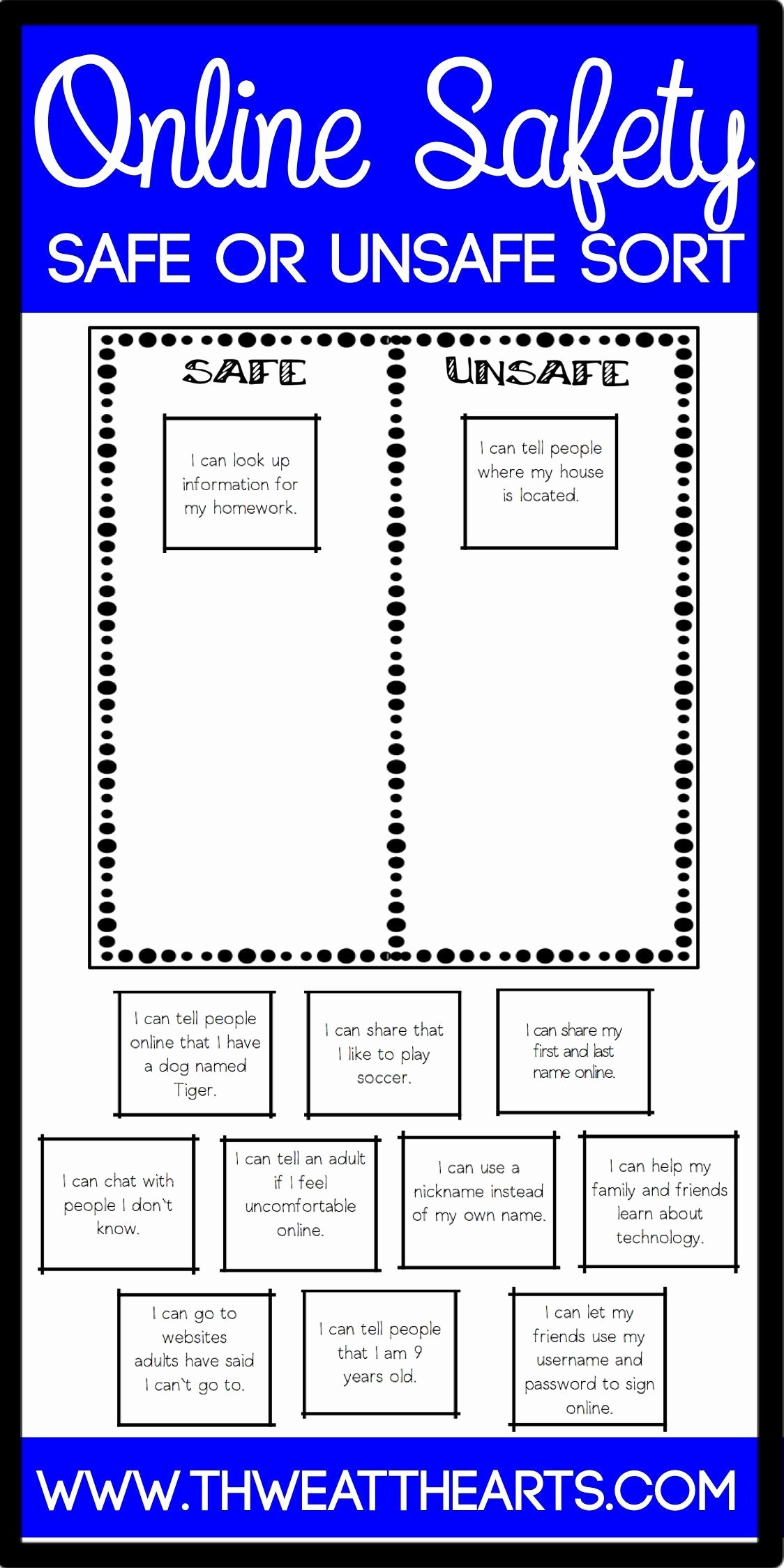 Internet Safety Worksheets Printable Unique Pin On Printable Worksheets for Preschoolers
