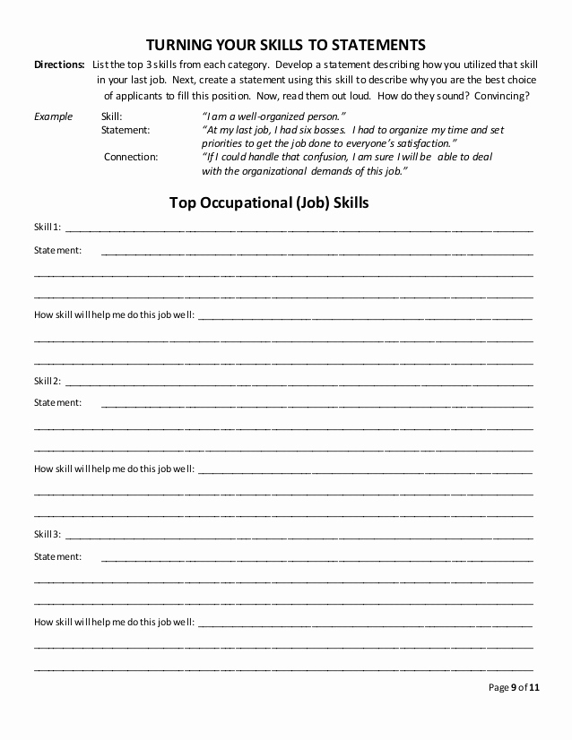 Job Skills Worksheets Awesome 31 Job Skills assessment Worksheet Free Worksheet