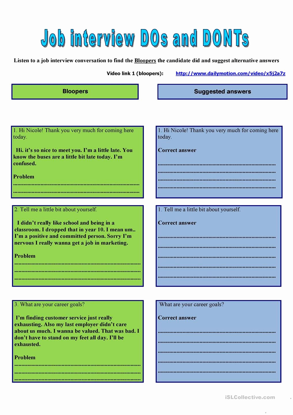 Job Skills Worksheets Fresh Job Interview Business Lesson Based On Four Skill