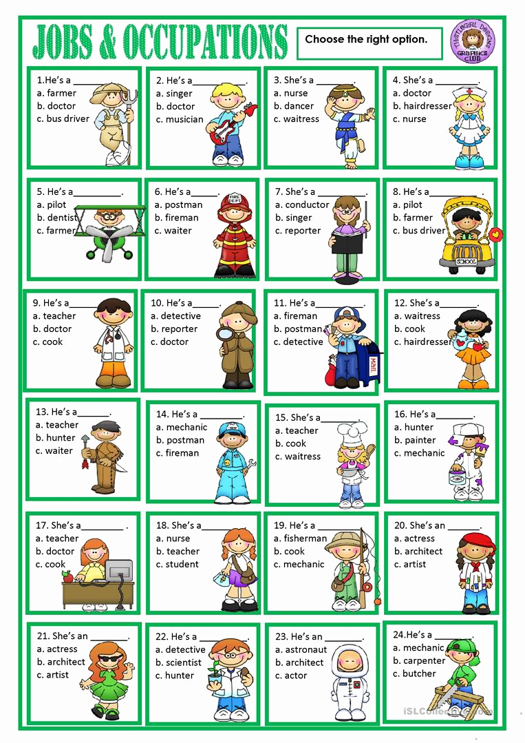 Job Skills Worksheets Inspirational Jobs Worksheet Free Esl Printable Worksheets Made by