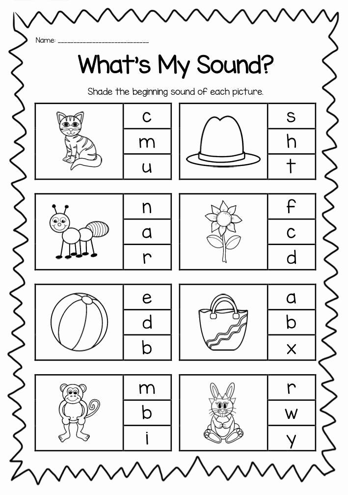 Jolly Phonics Worksheets for Kindergarten Best Of Jolly Phonics Worksheets for Kindergarten Beginning sounds