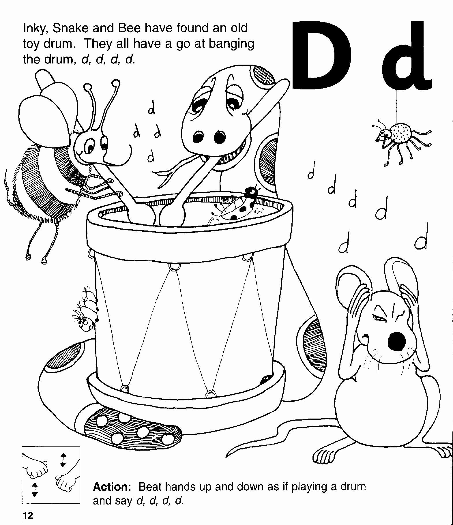Jolly Phonics Worksheets for Kindergarten Luxury D sound