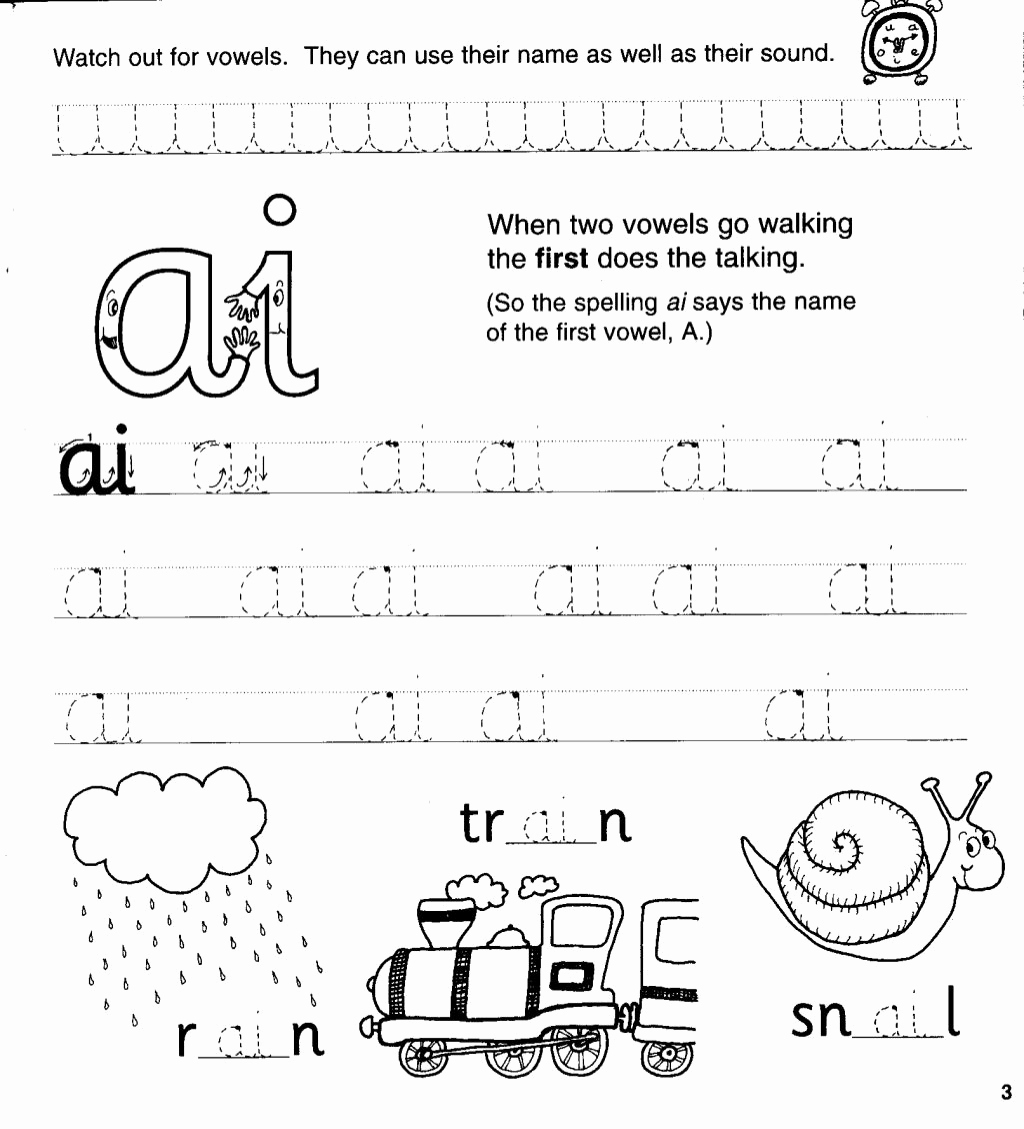 Jolly Phonics Worksheets for Kindergarten New Jolly Phonics Workbook 4 Ai J Oa Ie Ee or In 2020