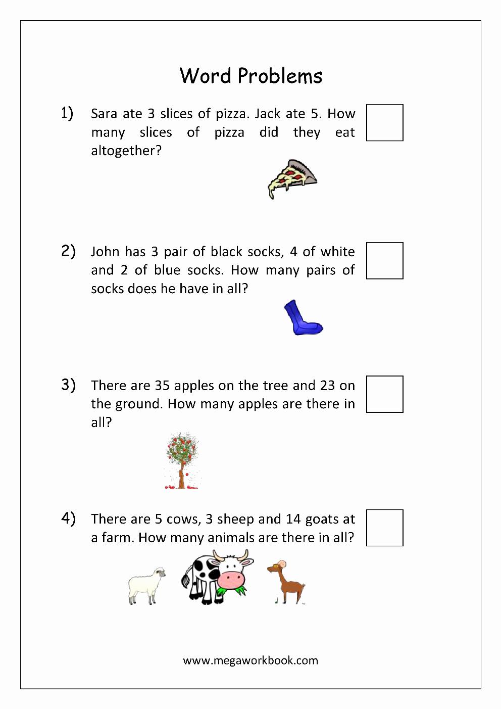 Kindergarten Addition Word Problems Worksheets Beautiful Addition and Subtraction Word Problems Worksheets for