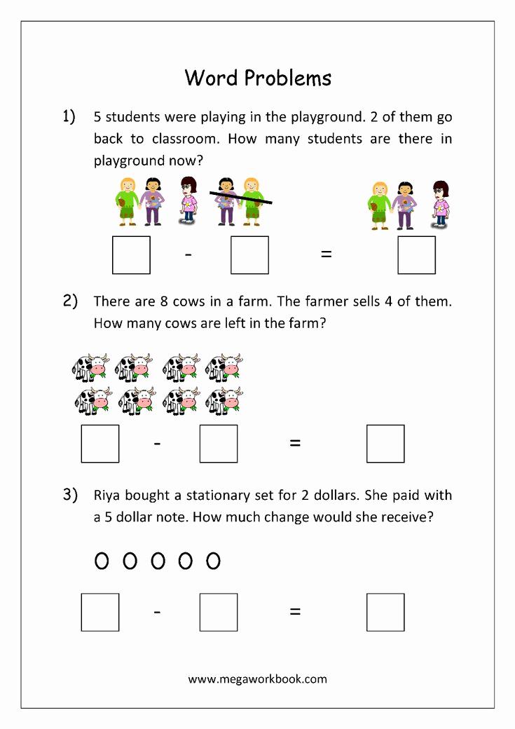 Kindergarten Addition Word Problems Worksheets Luxury Addition and Subtraction Word Problems Worksheets for