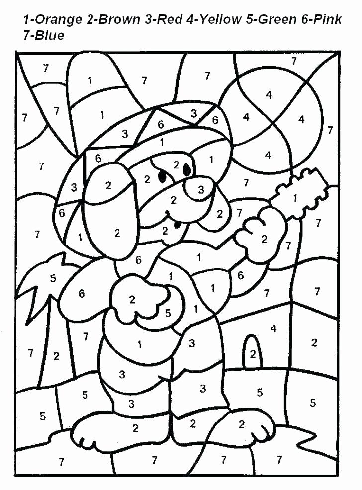 Kindergarten Color by Number Worksheets Beautiful Easy Color by Number for Preschool and Kindergarten