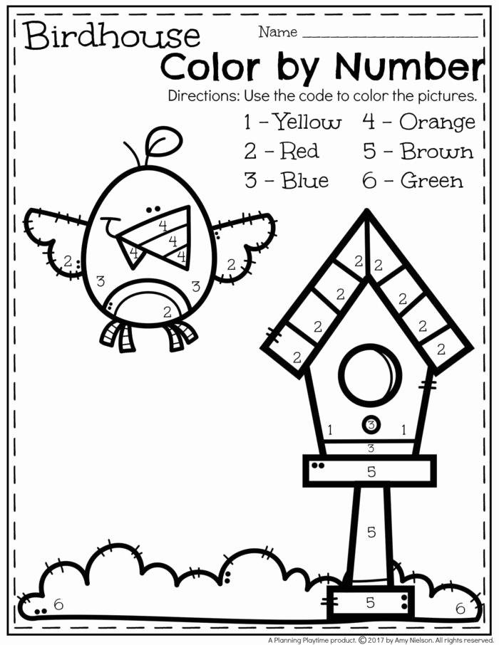 Kindergarten Color by Number Worksheets Beautiful May Preschool Worksheets Planning Playtime