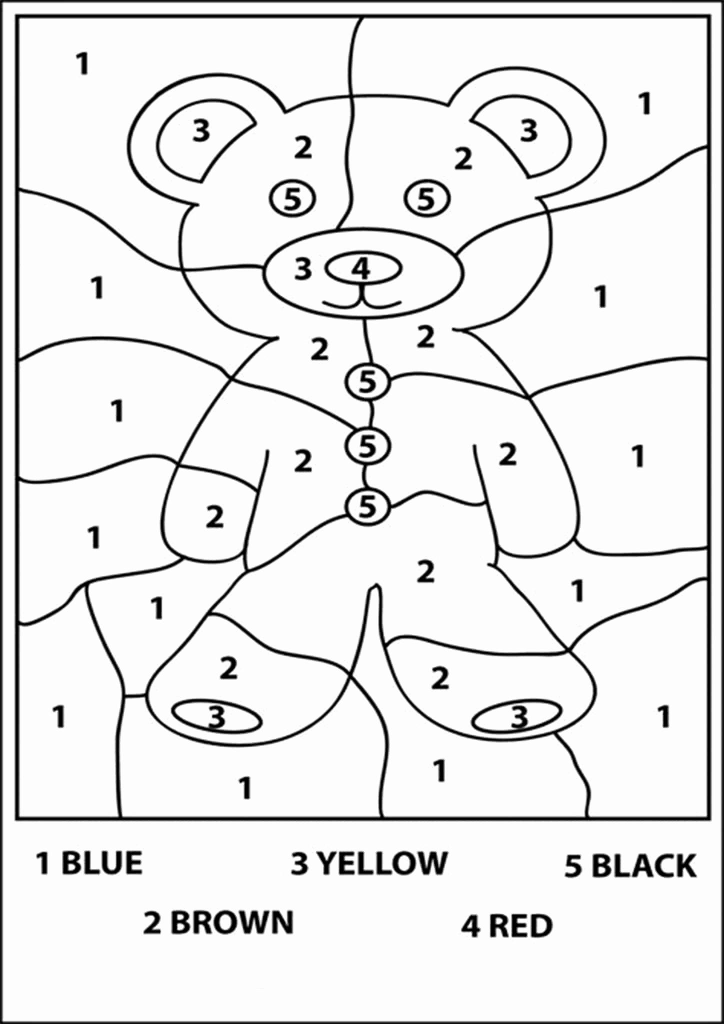 Kindergarten Color by Number Worksheets Best Of Free Printable Color by Number Worksheets for Kindergarten