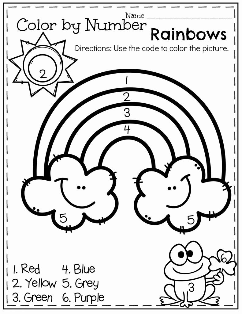 Kindergarten Color by Number Worksheets Elegant Easy Color by Number Worksheets for Kindergarten