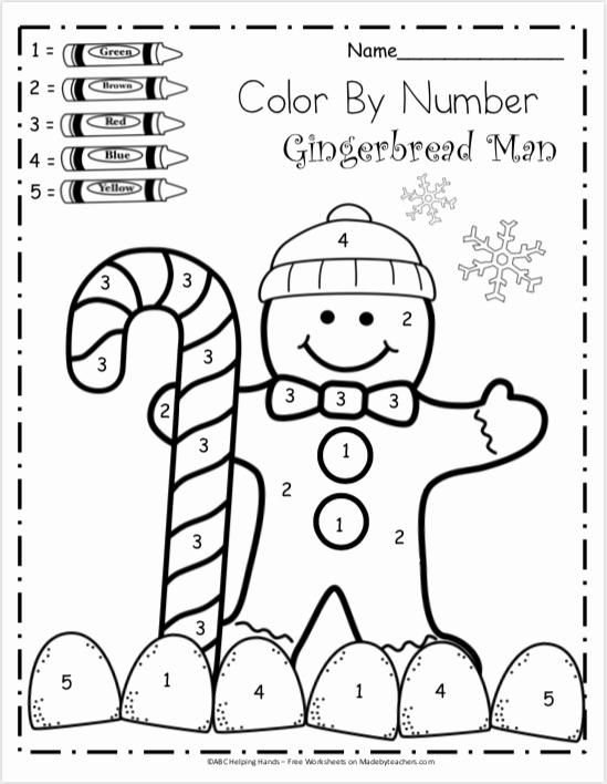 Kindergarten Color by Number Worksheets Fresh Free Kindergarten Math Worksheets for Winter Color by