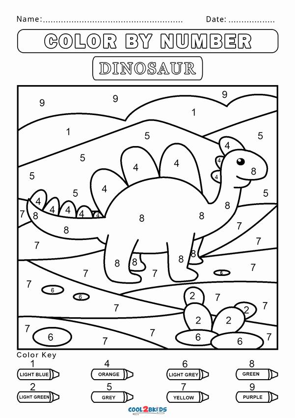 Kindergarten Color by Number Worksheets Inspirational Free Color by Number Worksheets