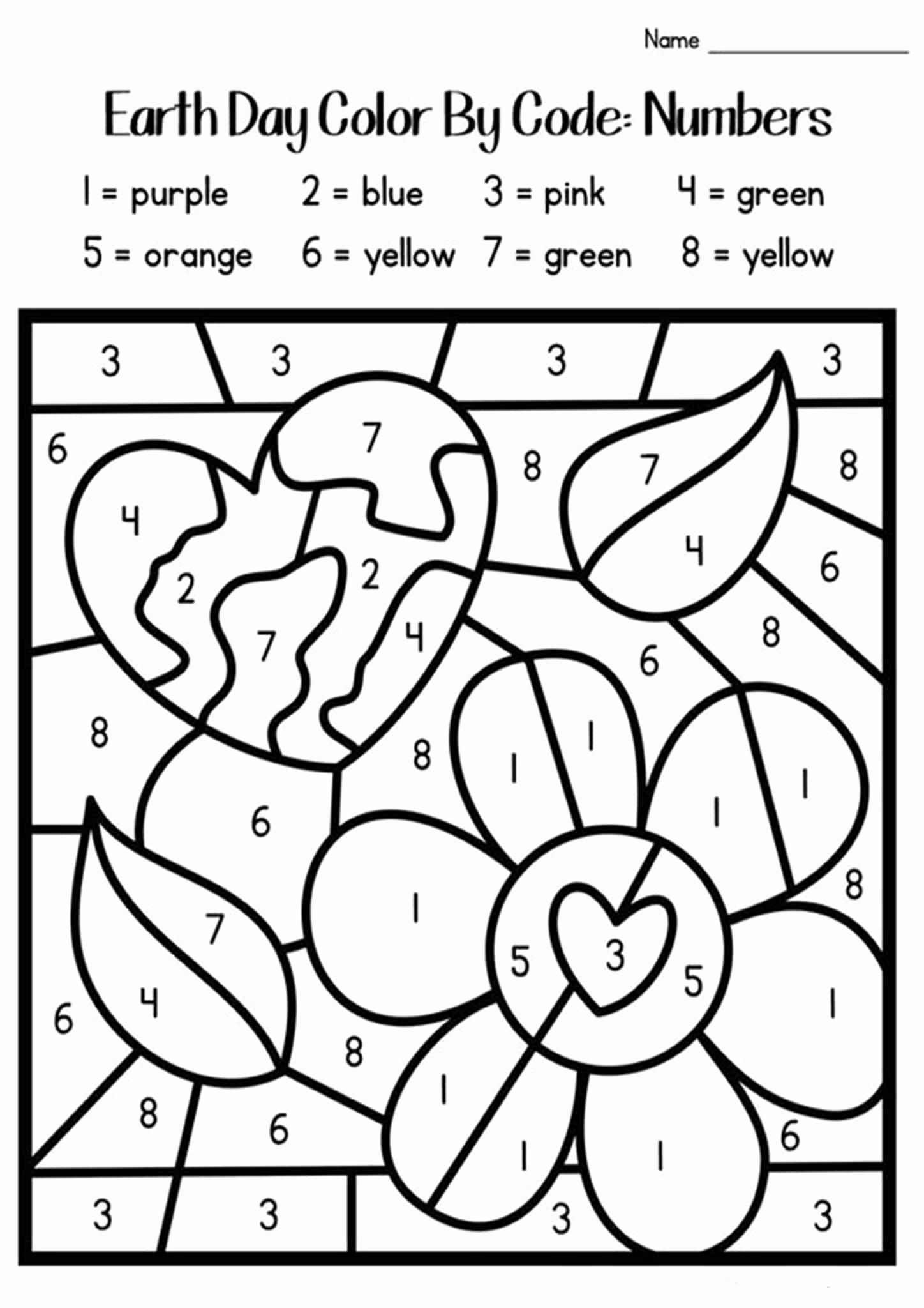 Kindergarten Color by Number Worksheets New Free Printable Color by Number Worksheets for Kindergarten