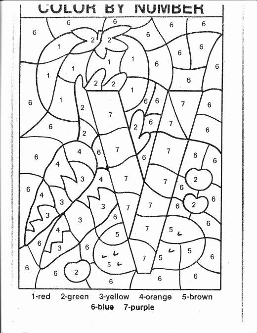 Kindergarten Color by Number Worksheets Unique 14 Best Of V is for Ve Ables Worksheet Kids