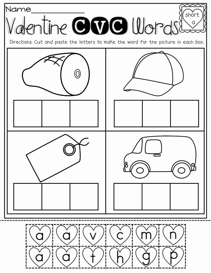 Kindergarten Cut and Paste Worksheets Awesome February No Prep Packet Kindergarten