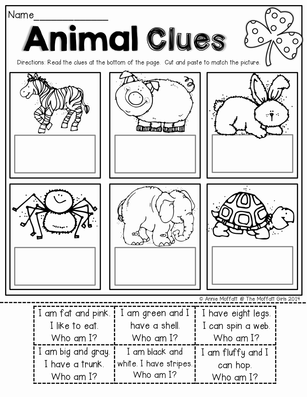 Kindergarten Cut and Paste Worksheets Beautiful the Moffatt Girls St Patrick S Day No Prep Packets