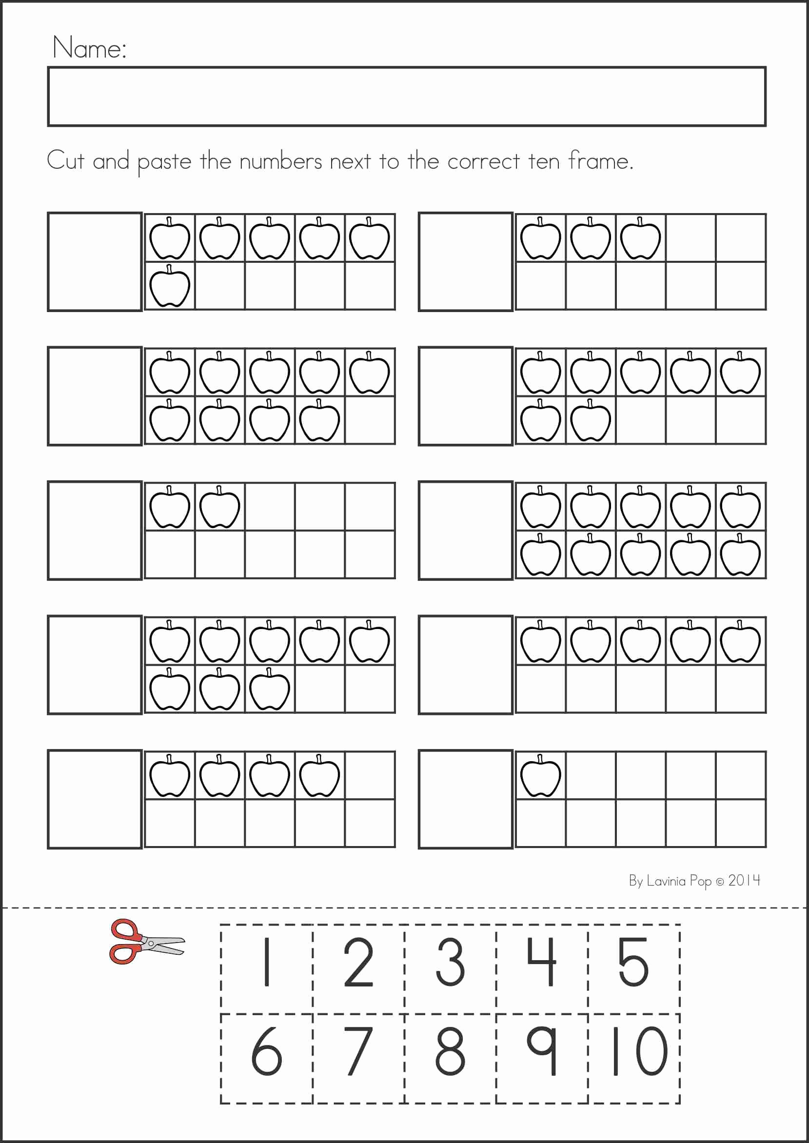 Kindergarten Cut and Paste Worksheets Lovely Back to School Math & Literacy Worksheets and Activities