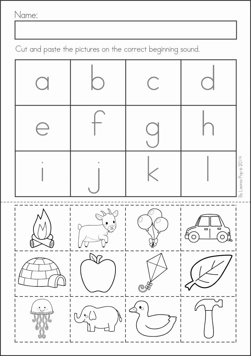 Kindergarten Cut and Paste Worksheets Luxury Pin On Worksheets
