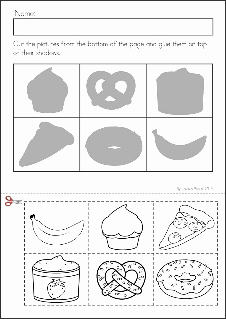 Kindergarten Cut and Paste Worksheets New 10 Best Of Preschool Cut and Paste Shape Worksheets
