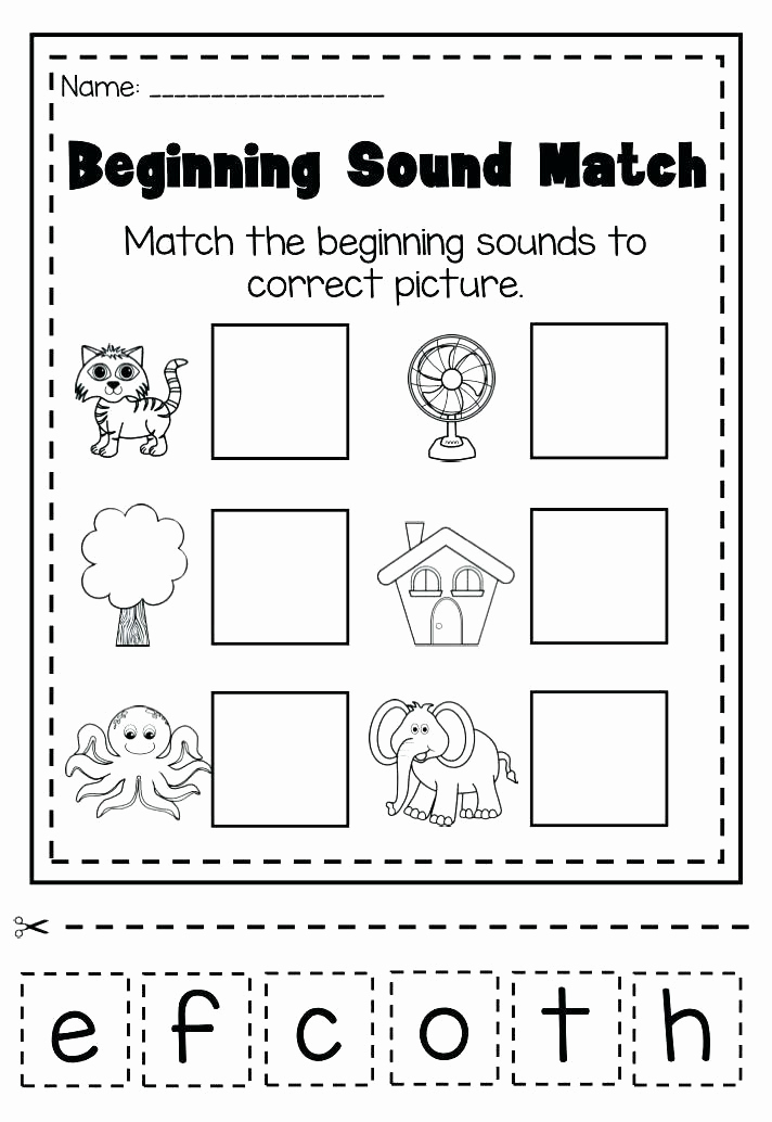 Kindergarten Cut and Paste Worksheets Unique Kindergarten Beginning sounds Cut and Paste Worksheets