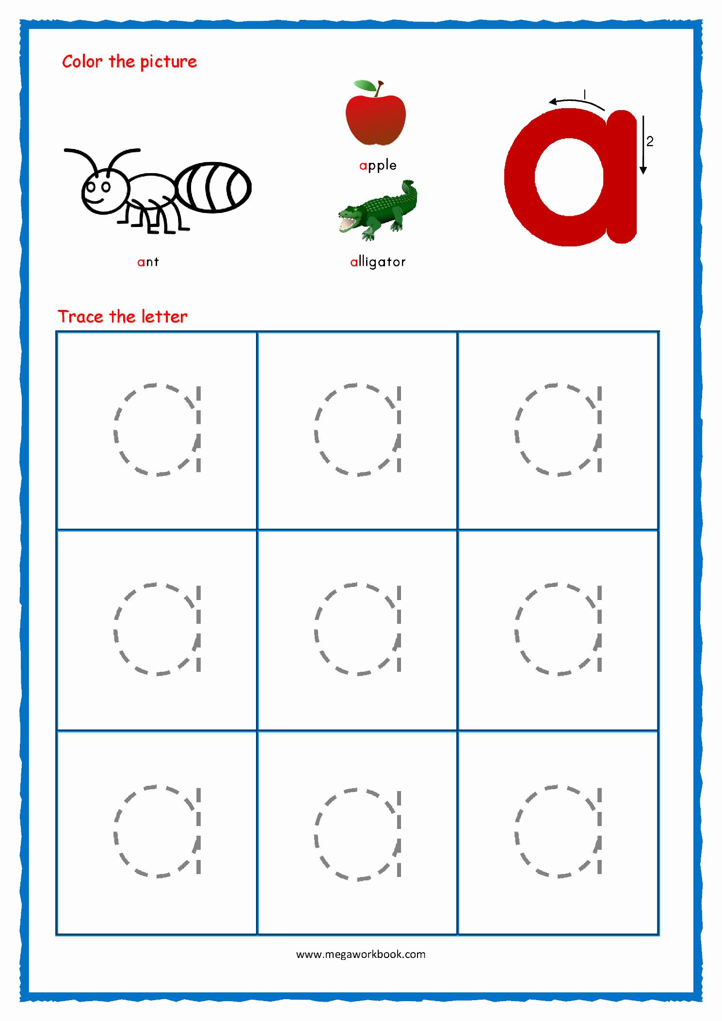 Kindergarten Lowercase Letters Worksheets Beautiful Lowercase Letters Tracing Worksheets Pdf
