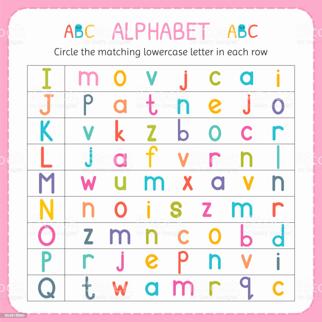 Kindergarten Lowercase Letters Worksheets Elegant Circle the Matching Lowercase Letter In Each Row From I to