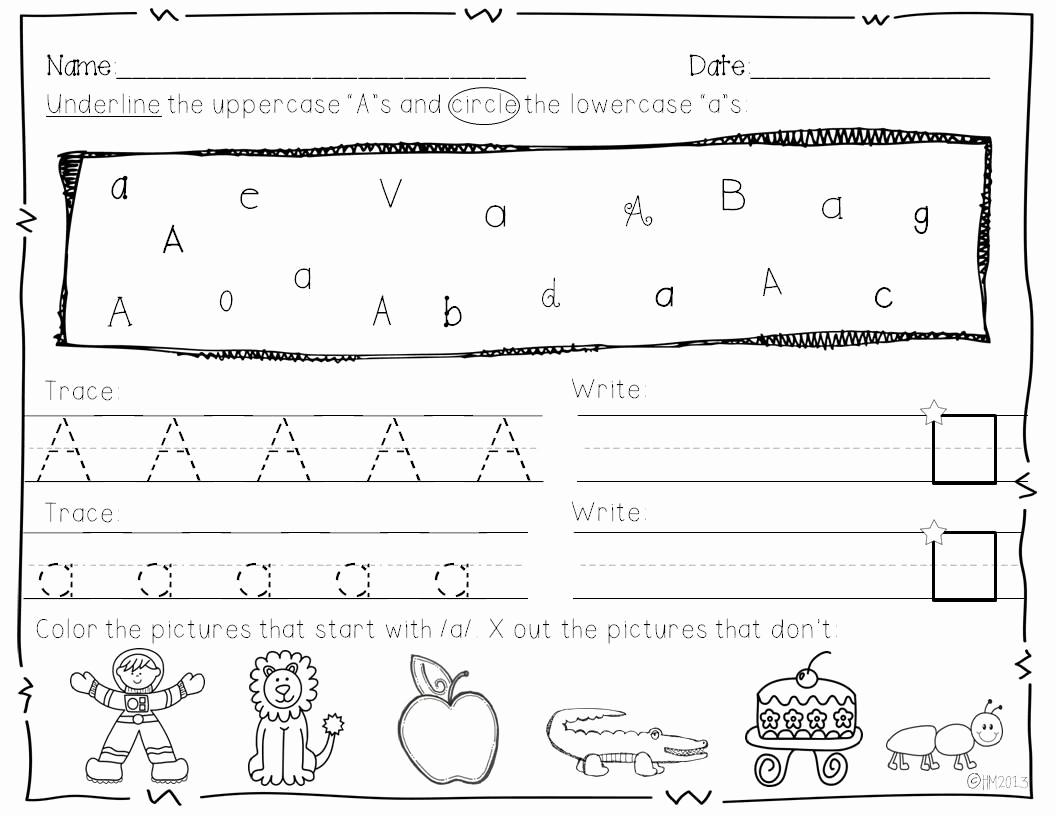 Kindergarten Lowercase Letters Worksheets Elegant Tracing Lowercase Letters for Preschool
