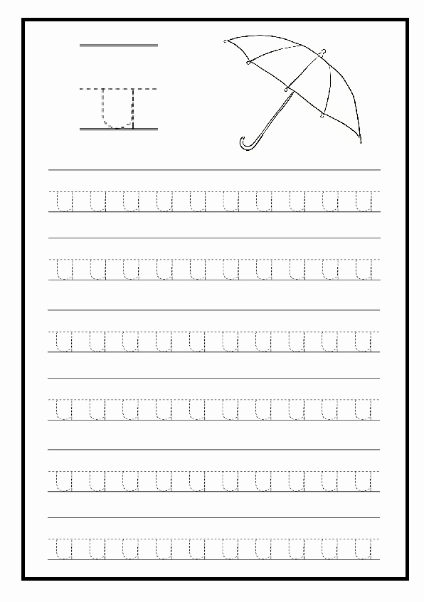 Kindergarten Lowercase Letters Worksheets Luxury Lowercase Letter U Free Printable Worksheet for