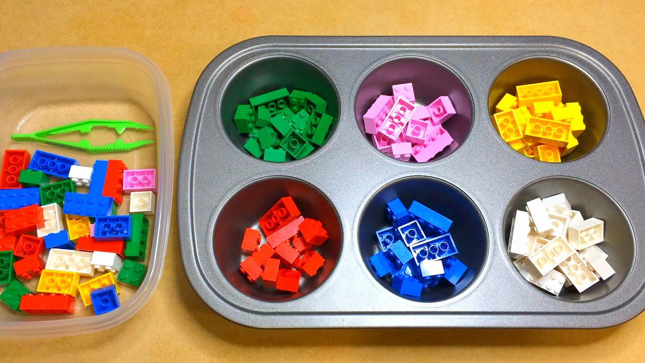 Kindergarten Math sorting Worksheets Awesome Lego Color sorting Activity for Preschool Math and Fine