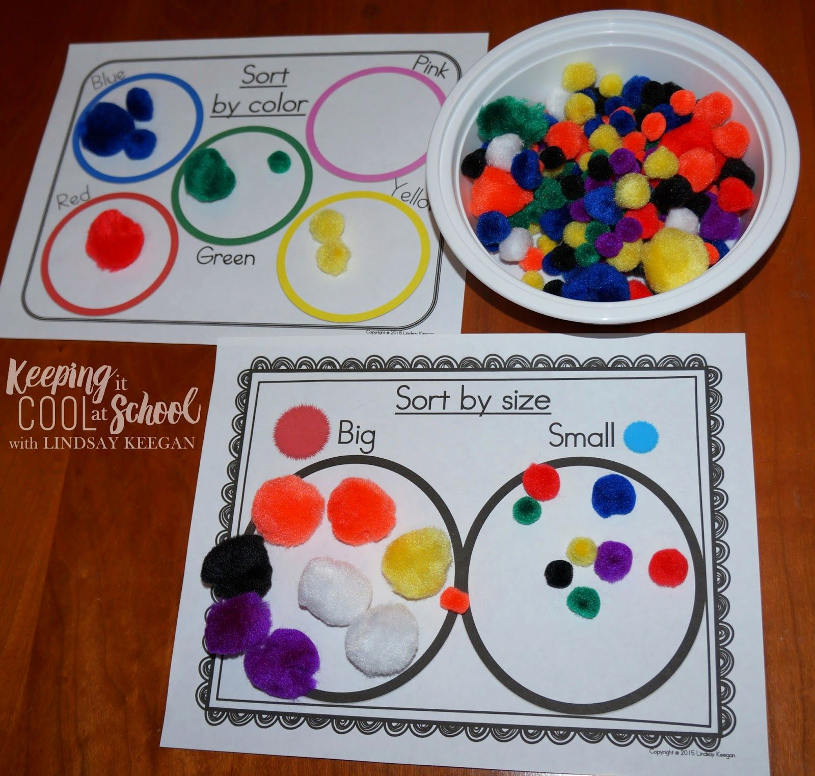 Kindergarten Math sorting Worksheets Awesome Pom Pom Power Having Fuzzy Fun In Math Centers Fun