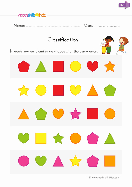 Kindergarten Math sorting Worksheets Beautiful sort and Classify Worksheets for Kindergarten