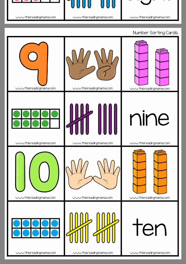 Kindergarten Math sorting Worksheets Best Of Number sorting with Images