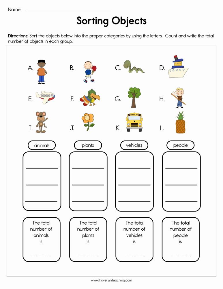 Kindergarten Math sorting Worksheets Elegant 30 Measuring Weight Worksheets