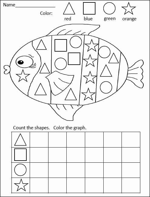 Kindergarten Math sorting Worksheets Fresh sorting by Shapes with Images