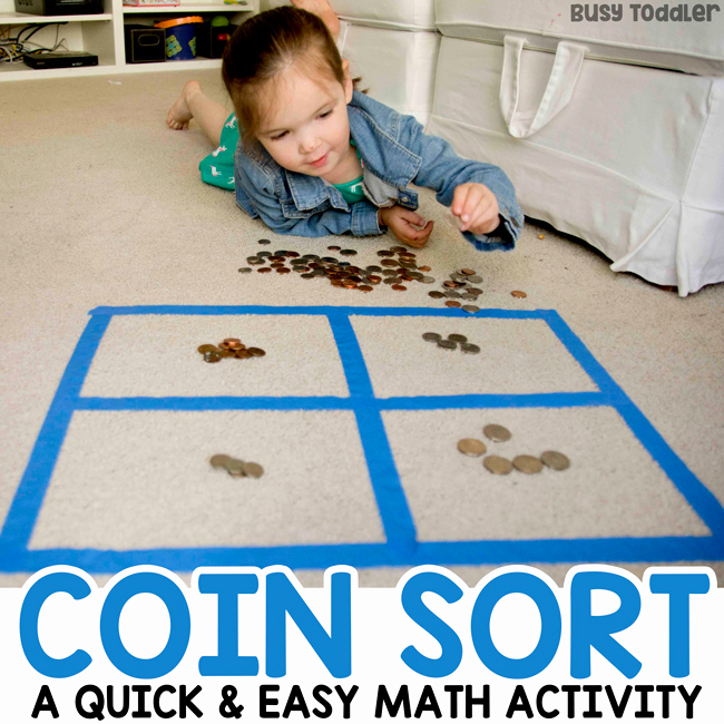 Kindergarten Math sorting Worksheets Lovely Coin sorting Preschool Math Activity Busy toddler