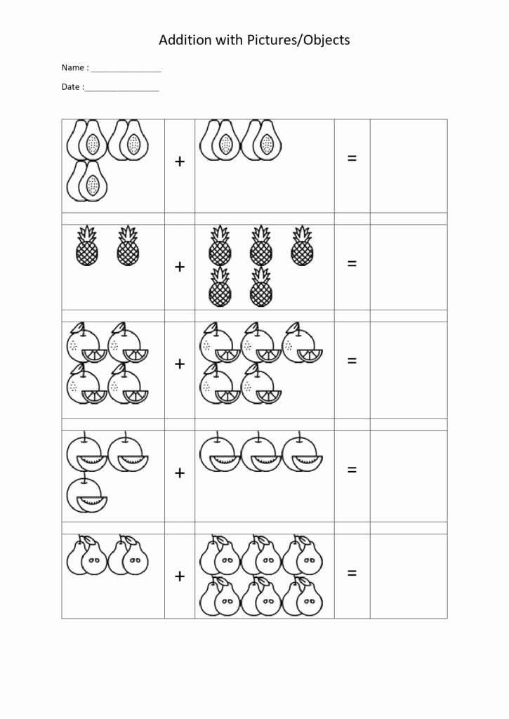 Kindergarten Math Worksheet Pdf Fresh 20 Sheets Math Addition Worksheets with for