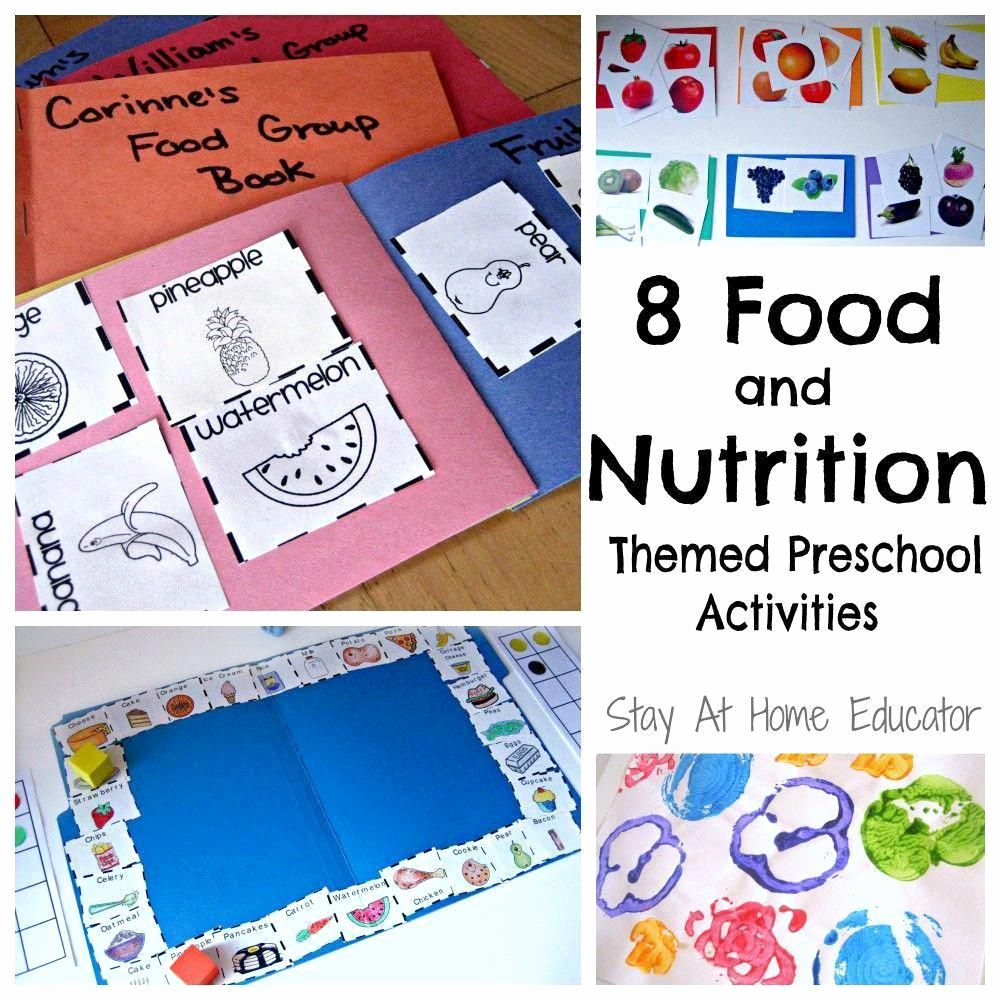 Kindergarten Nutrition Worksheets Best Of Nutrition Activities for Kids Nutritionbytanya
