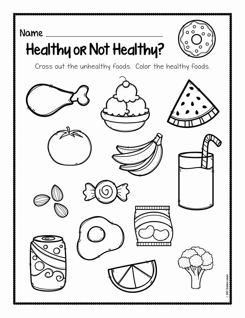 Kindergarten Nutrition Worksheets Elegant Healthy Foods Worksheet [free Download] the Super Teacher