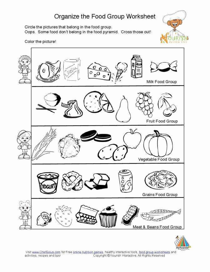 Kindergarten Nutrition Worksheets Elegant Nutrition Worksheets