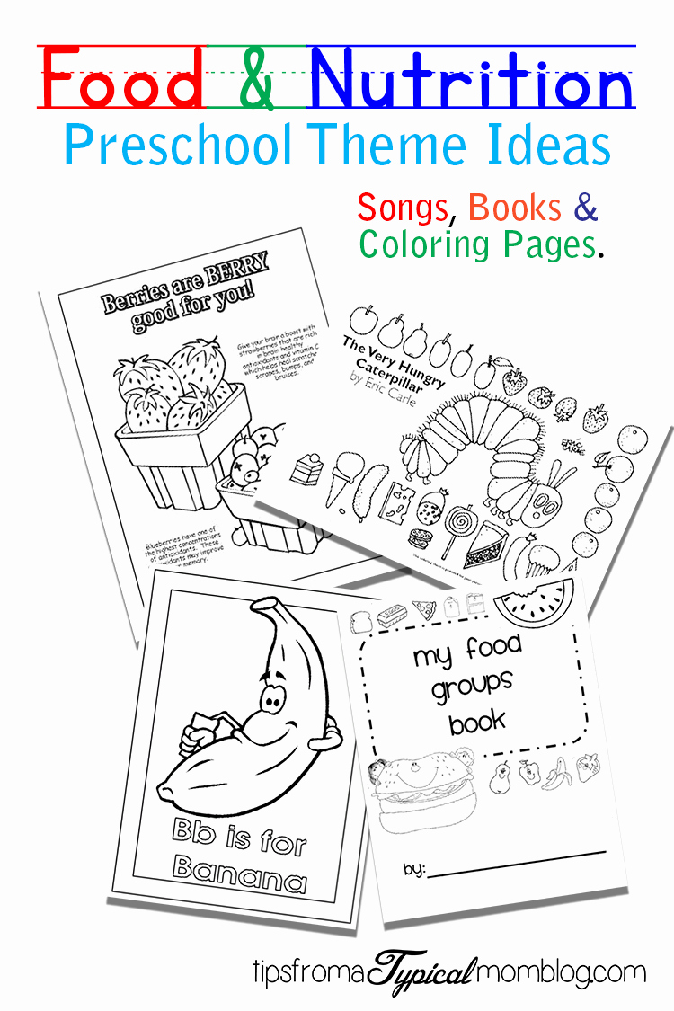 Kindergarten Nutrition Worksheets Inspirational Food and Nutrition theme Preschool songs and Printables