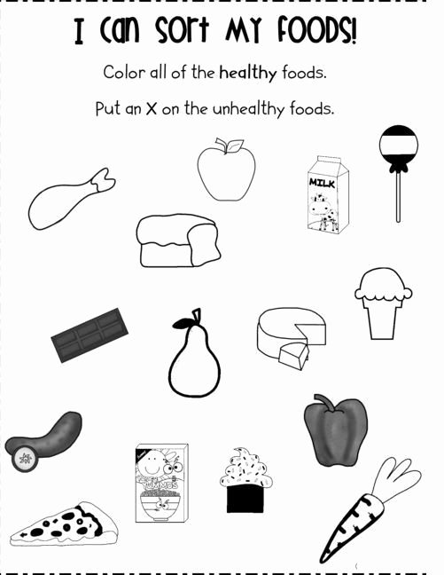 Kindergarten Nutrition Worksheets New Kindergarten Nutrition Worksheets Food Worksheet for Kids
