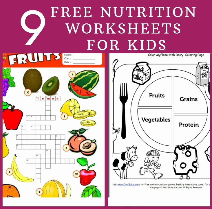 Kindergarten Nutrition Worksheets Unique 9 Free Nutrition Worksheets for Kids Health Beet