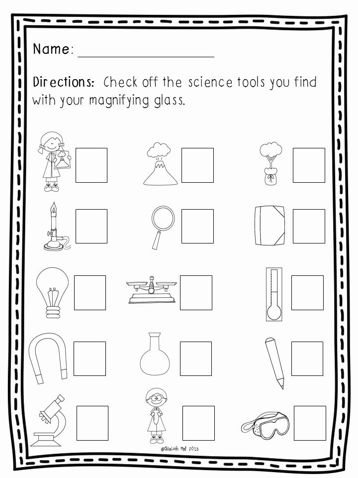 Kindergarten Science Worksheets Luxury Science tools In Kindergarten