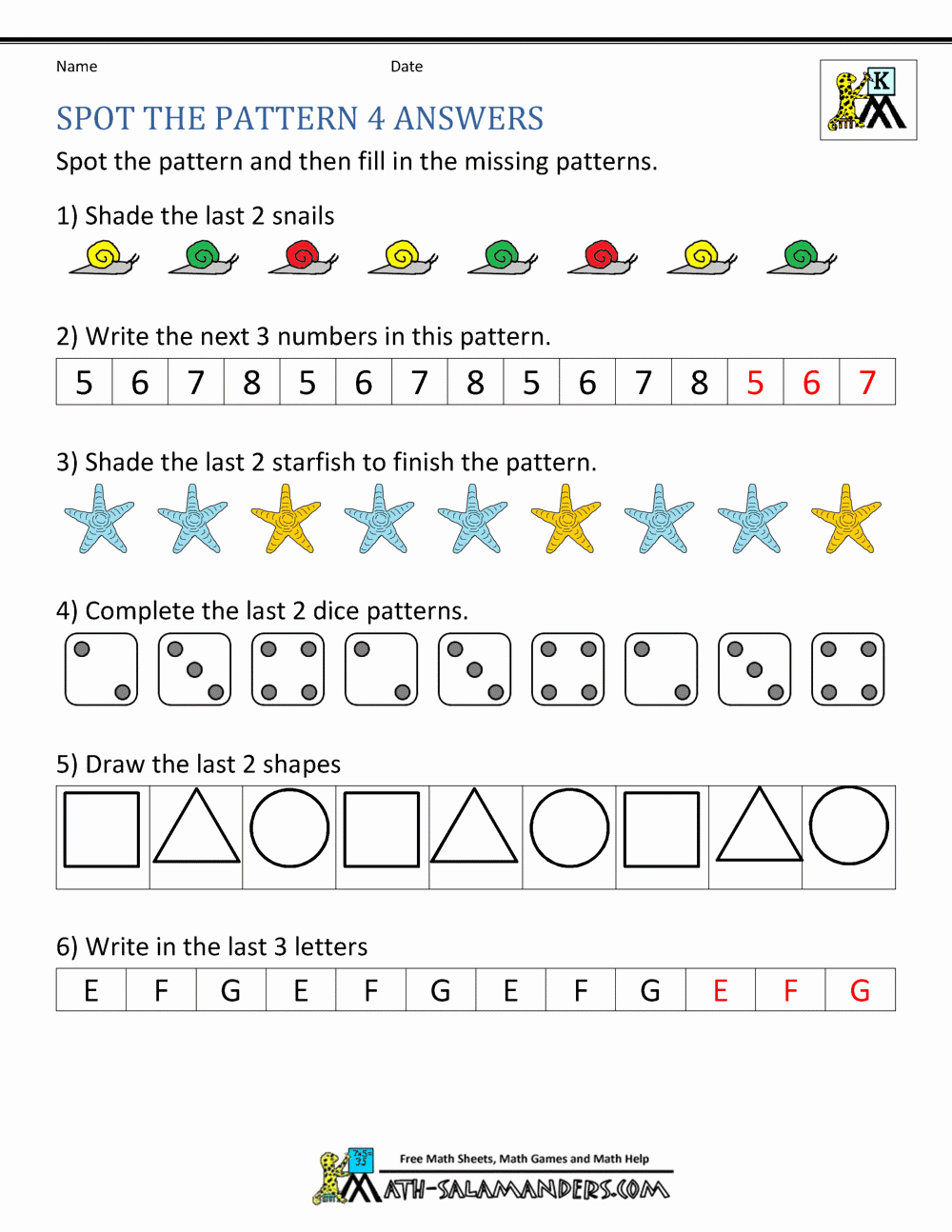 Kindergarten Sequence Worksheets Awesome Number Sequence Worksheets with Answers
