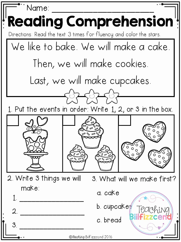 Kindergarten Sequence Worksheets Fresh Free Sequencing Reading Prehension for Beginning