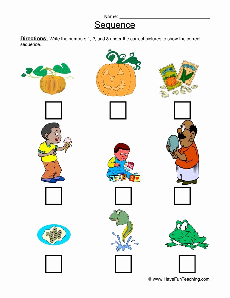 Kindergarten Sequence Worksheets Lovely Sequencing Worksheet In 2020