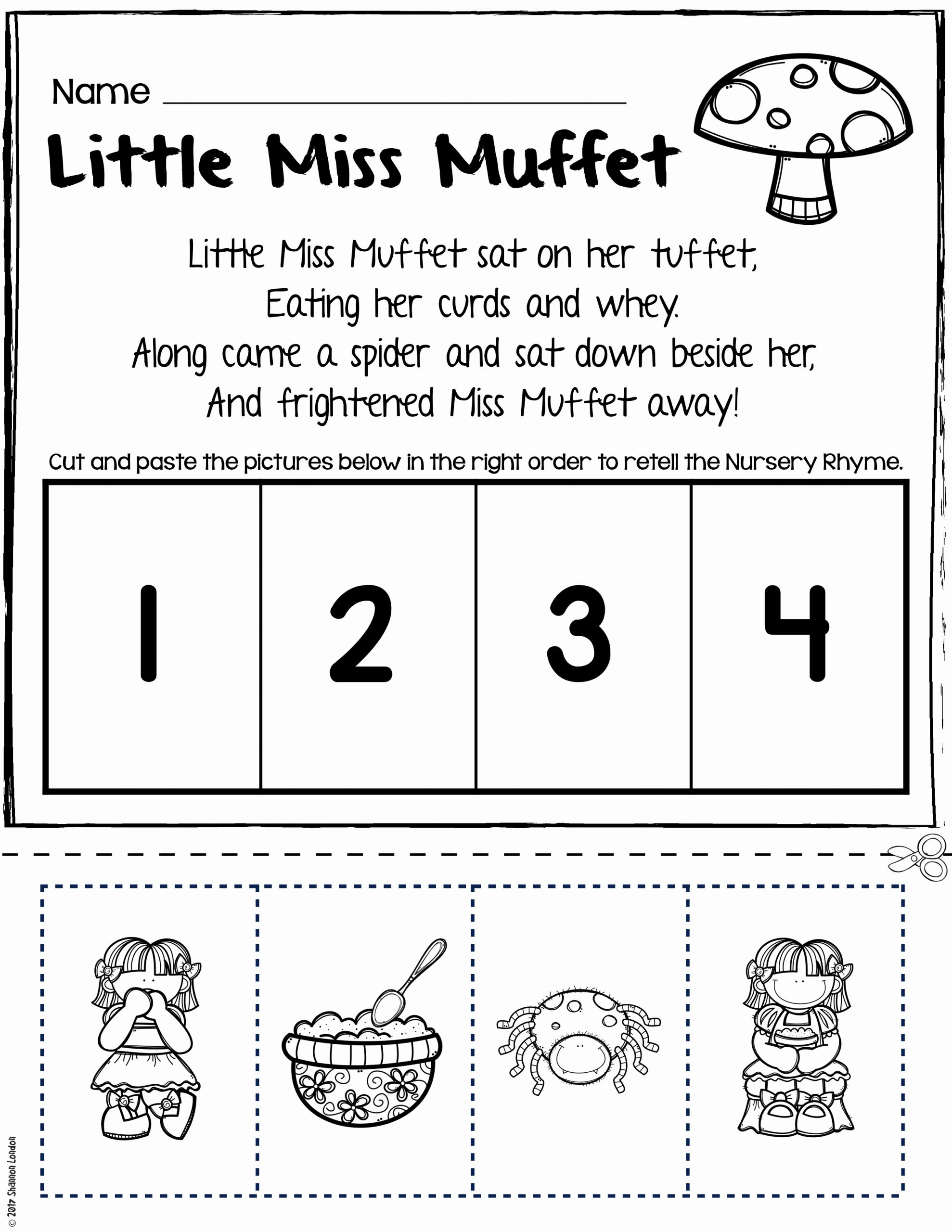 Kindergarten Sequence Worksheets New Nursery Rhymes Worksheets for Story Retelling Practice