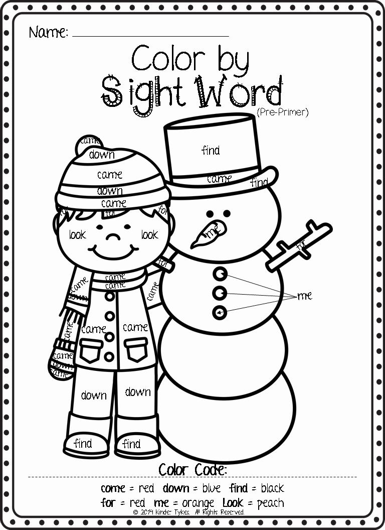 Kindergarten Sight Word Coloring Worksheets Awesome Sight Word Coloring Worksheets