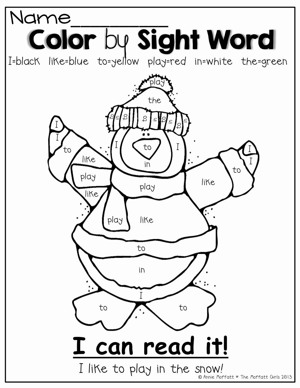 Kindergarten Sight Word Coloring Worksheets Luxury Color by Sight Word Such A Fun Way to Practice and