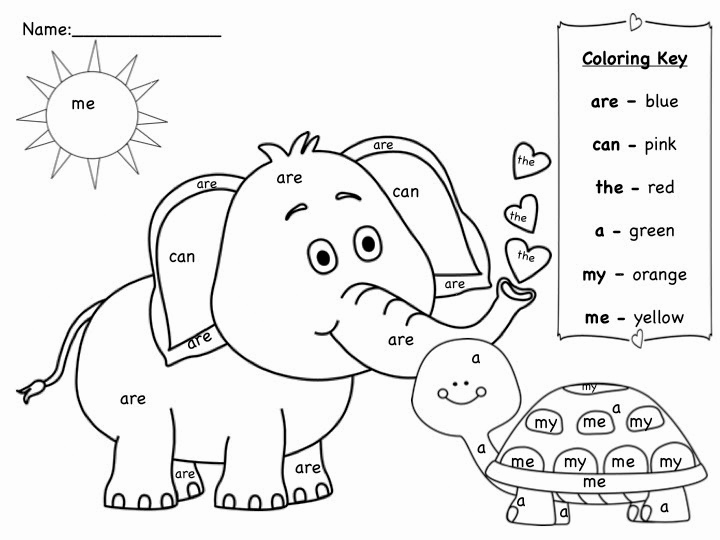 Kindergarten Sight Word Coloring Worksheets Luxury Sight Word Coloring Pages Printable