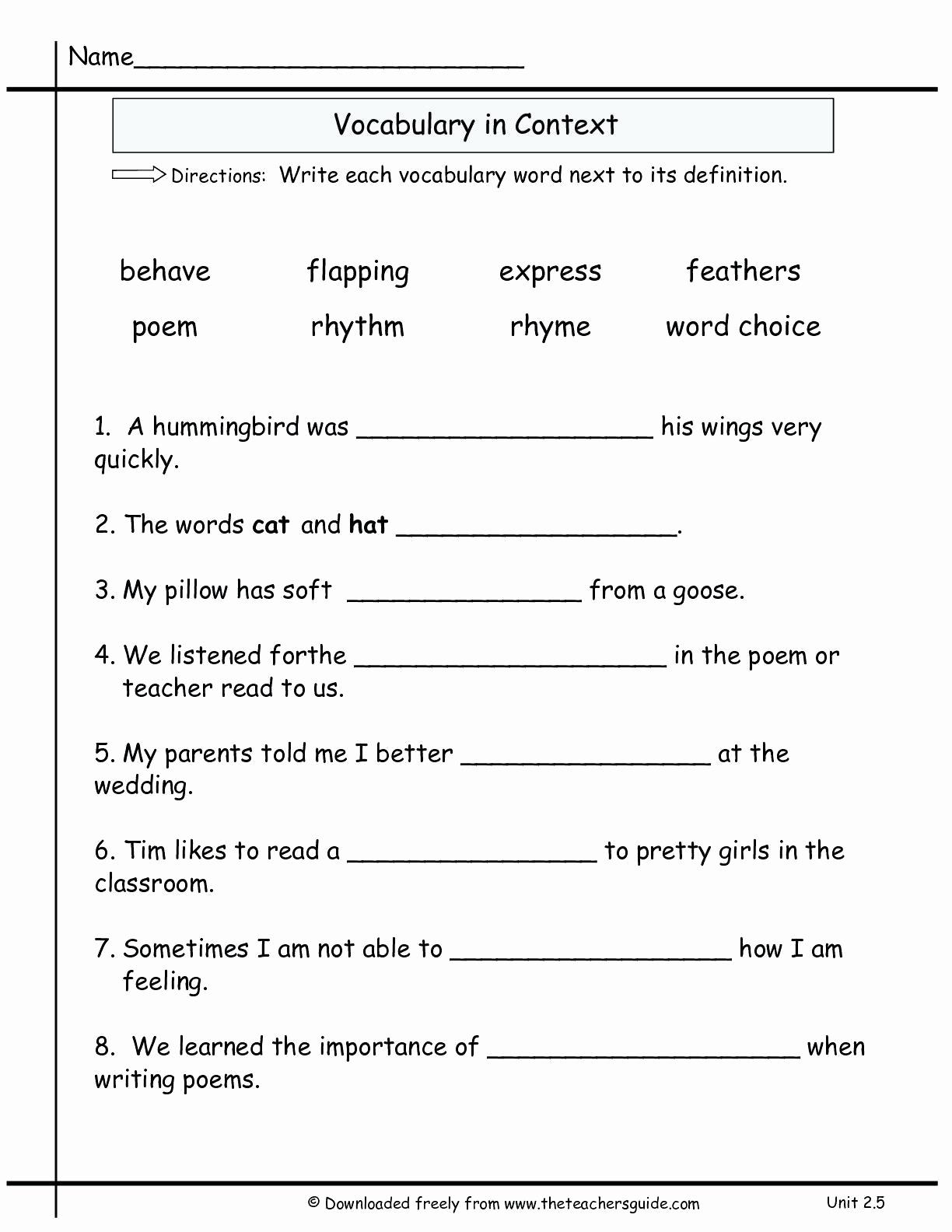 Language Arts Worksheets 8th Grade New 20 8th Grade Language Arts Worksheets